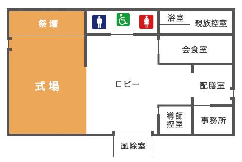 たかせ会館平面図