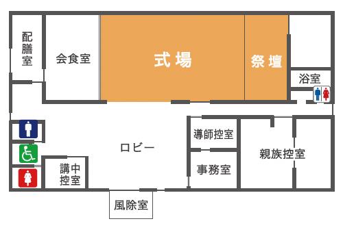たかせ会館東平面図